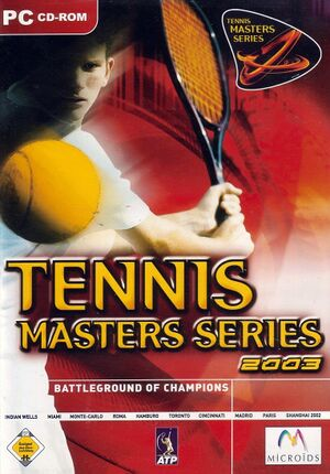 Tennis Masters Series 2003 cover