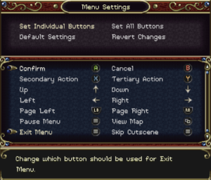 Controller and key remapping for menus.