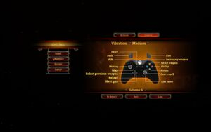 In-game gamepad controls.