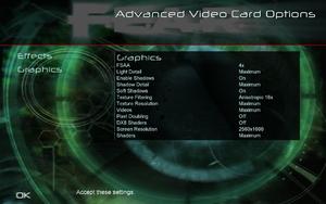 In-game advanced video settings (for GPU, 2/2).