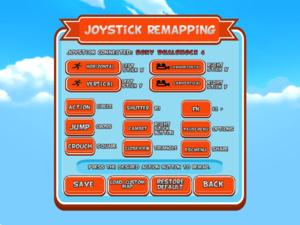 Controller/keyboard input settings.