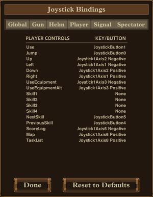 In-game gamepad map settings.