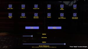 In-game general settings (via Esc).
