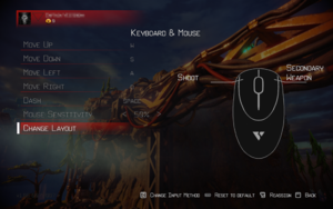 In-game keyboard & mouse settings