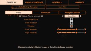 Basic gameplay settings