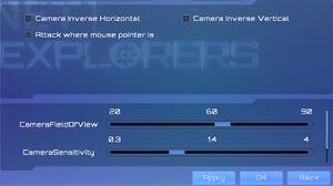 Camera options.