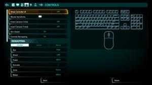 Control remap menu