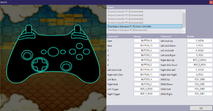 Launcher rebinding settings for DirectInput and keyboard. XInput states no prior setup is required.