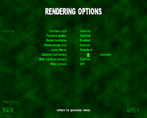 In-game general rendering settings.