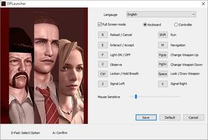 Launcher settings and input settings.