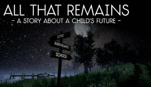 All That Remains: A story about a child's future cover