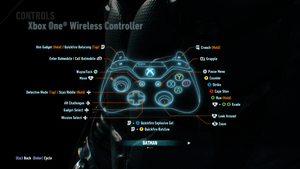 In-game XBox bindings.