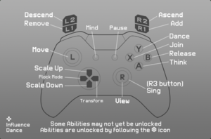 In-game gamepad controls (Xbox controller).