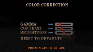 Color settings in-game.