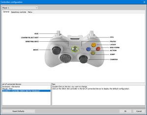 Controller settings