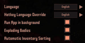 General settings