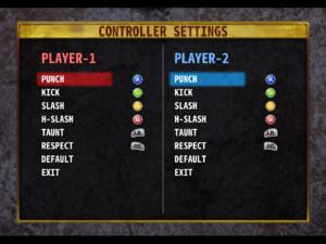 Default controller bindings