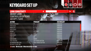 KB/M input settings.
