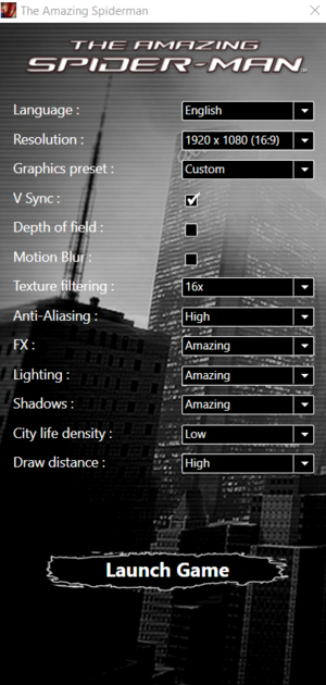 Game launcher interface