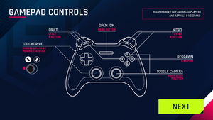 Controller buttons for Touchdrive mode.