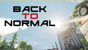 BackToNormal cover