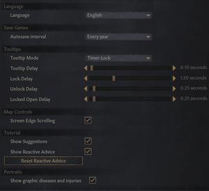General game settings