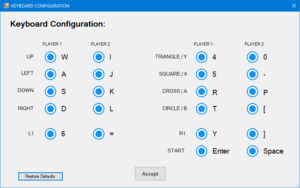 Keyboard remapping from configuration launcher.