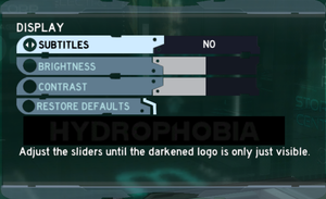 In-game Display options menu.