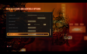 In-game general settings (3/3).