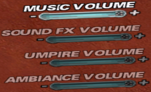 In-game sounds settings
