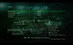 In-game gamepad settings (for Aircraft).