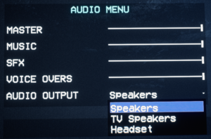 Audio Menu