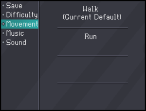 In-game movement settings.