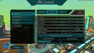 Camera controls on Hover, showcasing axis inversion and sensitivity.