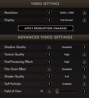 Graphics settings (2/2)