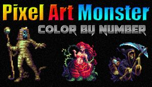 Pixel Art Monster - Color by Number cover