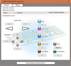Launcher keyboard mapping menu.