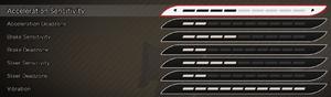 Advanced controls settings