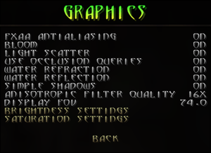 Graphics settings