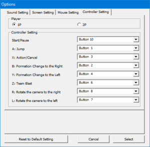 Controller remapping from external configuration launcher.