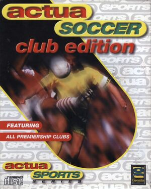 Actua Soccer Club Edition cover