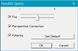 Direct3D settings.