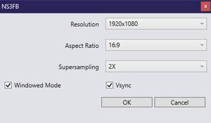 Launcher graphics settings.