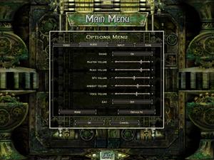 Audio settings for Legends of Aranna.