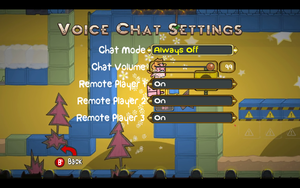 In-game voice chat settings.