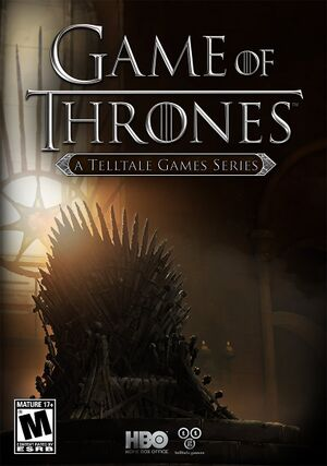 Game of Thrones: A Telltale Games Series cover