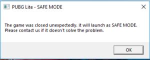 Safe Mode error