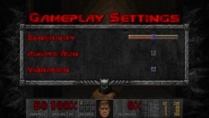 Gameplay control settings.