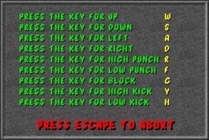 Keyboard rebinding menu.