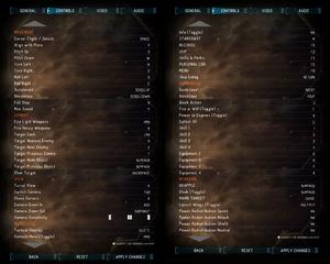 Launcher controls settings